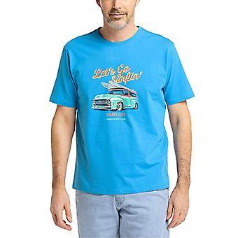 Pioneer T-Shirt Rundhals mit Druck, Strongblue Blue, XL Men's