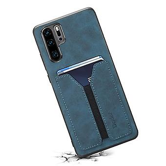Wallet leather case card slot for samsung note9 blue no637