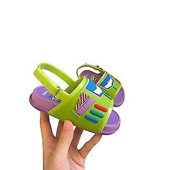 Maat 8 groene mini strandglijbaan speelgoed verhaal sandalen x3244