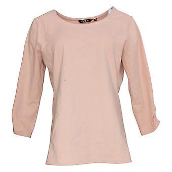 إيمان العالمية شيك المرأة الأعلى كفاف مماس 3/4-كم تي بينك 722322