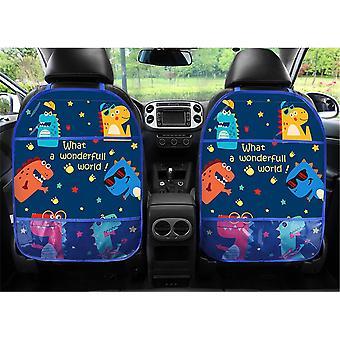 طفل الكرتون مقعد السيارة مرة أخرى حامي سيارة منظم قرص الوقوف شنقا حامل تخزين السيارات حقيبة ركلة حصيرة اكسسوارات رعاية الطفل