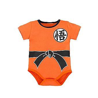 Dragon Ball Z Goku Printed Short Sleeve Bodysuit For Babies
