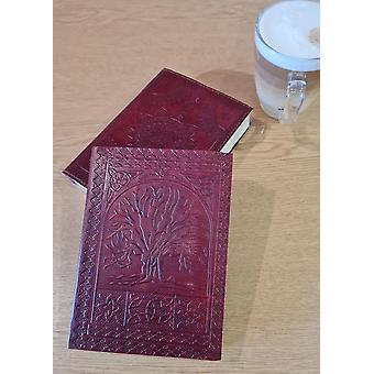 Met de hand gemaakt 7 x 5 Tree of Life Lederen Journal