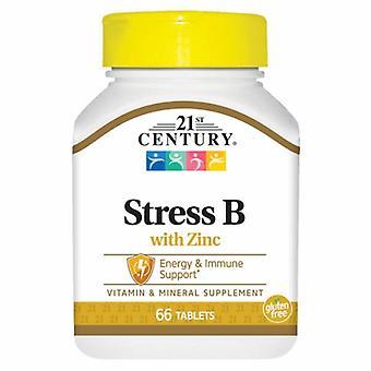 21st Century Stress B with Zinc, 66 Tabs