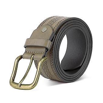 Khaki s plain simple herringbone embossed pin buckle belt homi4725