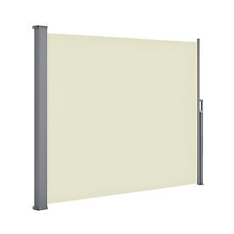 Tuinscherm privacyscherm – 300 x 180 cm – Beige – Uittrekbaar