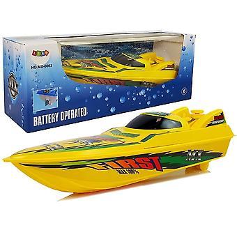 RC speelgoedboot geel - badkuip speelgoedboot - 4 standen