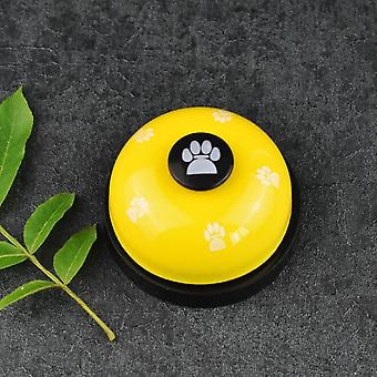 Cat and dog trainer pet footprints ringing the bell