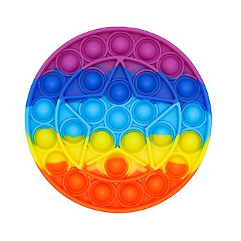 Go Bang Push Pop Bubble Rainbow Silicone Fidget Toy Stress Reliever For Kids