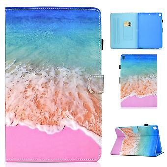 Case For Ipad 9 10.2 2021 Cover With Auto Sleep/wake Pattern Magnetic - Seawater