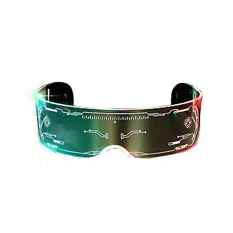 Multicolored Led Glasses Light Up Cyberpunk Glasses For Party Rave Festival