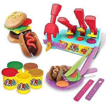 Hamburg Color Clay Jeux pour enfants Jouets DIY Color Clay Outils pour enfants Pâte à modeler (41 * 8.5 * 29.5cm)