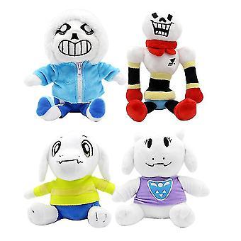 4pcs 20cm Undertale Sans Papyrus Asriel Toriel Stuffed Plush Toy Doll