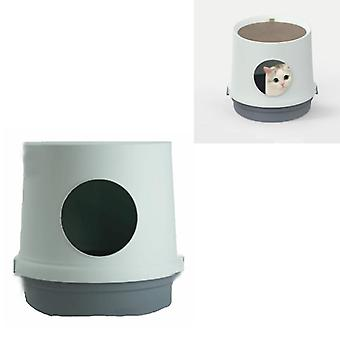 Litière pour chats éclaboussures fournitures de toilette pour chats fermées (bleu glace)