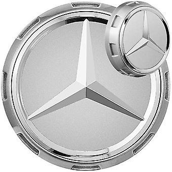 AMG Silver Mercedes Benz Wheel Center Caps Hub Badges 75mm 1 PCS