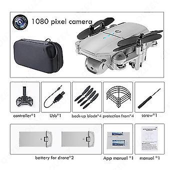 Mini drone 4k 1080p hd dual camera's wifi fpv luchtdruk hoogte houden zwart en grijs opvouwbaar