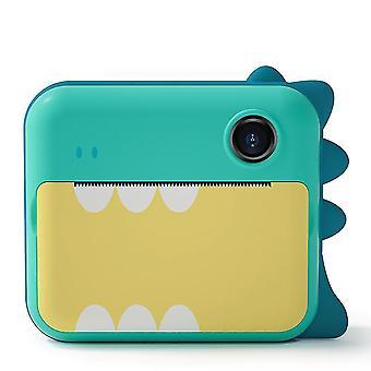متعة فورية الاطفال كاميرا الالة الرقمية صور فيديو 1080P (الأخضر)