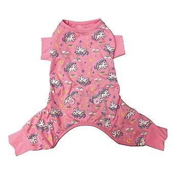 Fashion Pet Unicorn Dog Pajamas Pink - Small