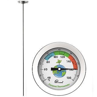 Termômetro do solo de adubo teste de aço inoxidável tipo fertilizante termômetro de água