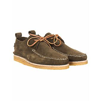 Yogi Footwear Lawson Suede Moccasin Shoes - Olive Green