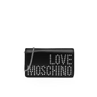 Love Moschino Black Crystal Clutch