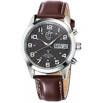 ONE (Eco Tech Time) Brown Genuine Leather EGS-11251-22L Men's Watch