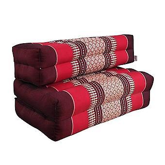 3 Folds Zafu Meditation Cushion Set Red