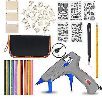 Glue guns eu/uk/us 30w adjustable temperature electric soldering iron welding tool kits us