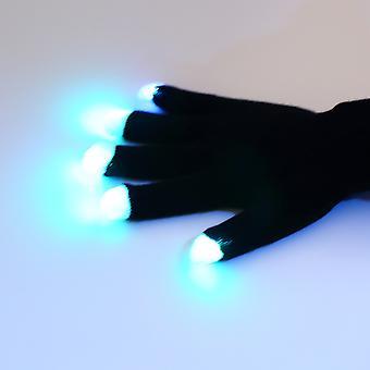 7 Mode Led Gloves Glove Rave Light Flashing Finger Lighting Glow Mittens Magic