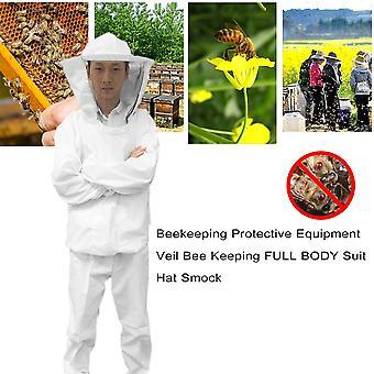 Bijenteelt beschermende uitrusting sluier bij het houden van full body suit hoed smock