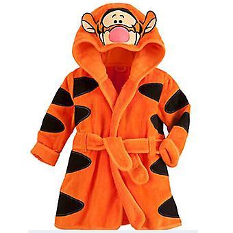 Lasten poika tyttö hupullinen fleece kylpytakki aamutakki yöasut pyjama