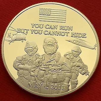 World Trade Building 911 Collection de médailles plaquées or Badge de pièce d'or
