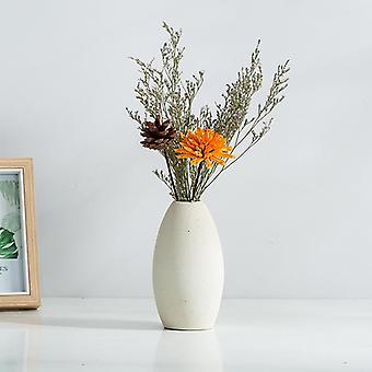 Keramiska vaser Enkel frostad keramisk dekoration Retro pastoral vas typ B