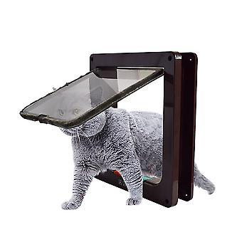 Huisdier Kat en Hond Intelligente controle, eenvoudig te installeren, winddichte ingang (bruin L)