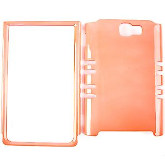 Unlimited Cellular Rocker Snap-On Case pour Samsung Galaxy Note i717 - Pearl Orange