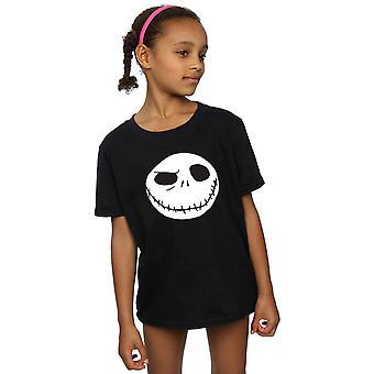 Disney Mädchen Nightmare Before Christmas Jack großes Gesicht T-Shirt