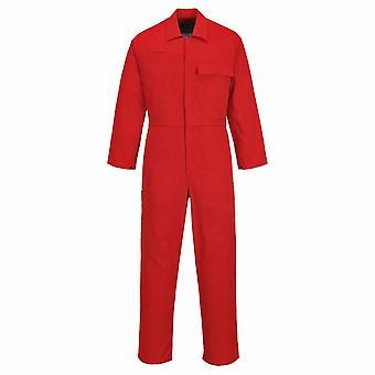 Portwest - CE Safe-Welder Workwear Coverall Boilersuit Red XXL