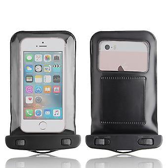 InventCase vedenpitävä pölytiivis laukku tapauksessa suojus iPhone SE - musta