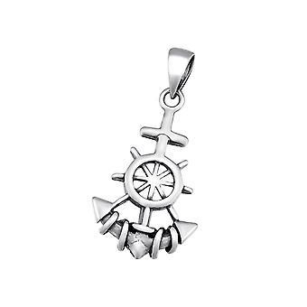 Anchor - 925 Sterling Silver Plain Pendants - W34669X
