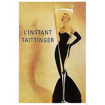 Champagner LInstant Taittinger Plakat Poster drucken