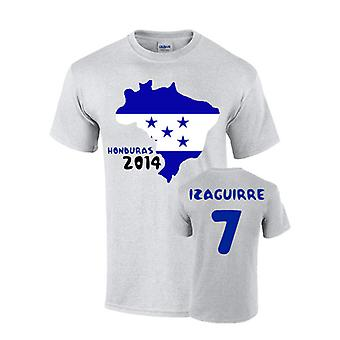 Honduras 2014 Country Flag T-shirt (izaguirre 7)
