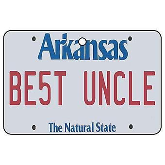 Arkansas - Best Uncle License Plate Car Air Freshener