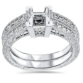 1/4ct Princess Cut Diamond Engagement Ring Setting 14K