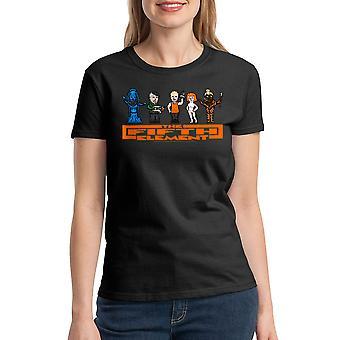 T-shirt noir le cinquième élément Mangalore pistolet femmes