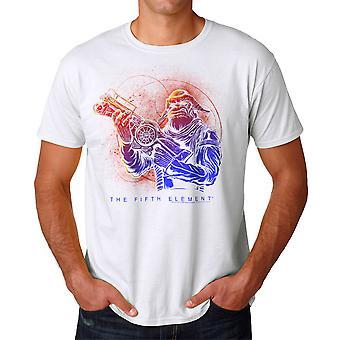 Le cinquième élément Mangalore pistolet blanc T-shirt homme