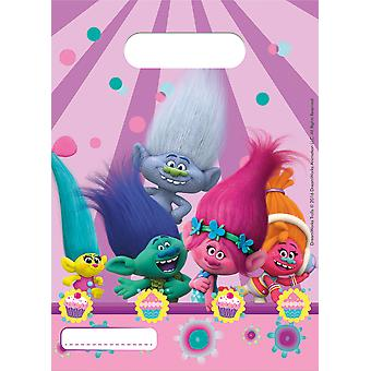 Partito borse borse borsa partito troll compleanno 6 pezzi di bambini