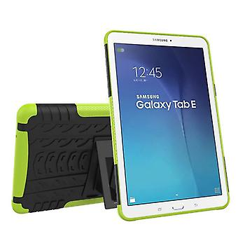Hybrid utendørs beskyttelsesdeksel tilfelle grønt for Samsung Galaxy tab E 9.6 SM T560 T561 bag
