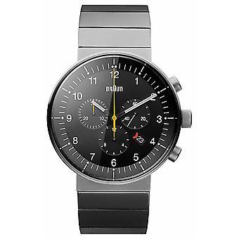 Braun Mens prestisje Silver Tone BN0095BKSLBTG Watch