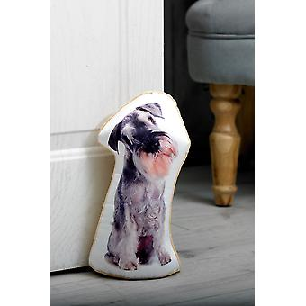 Adorable schnauzer shaped doorstop