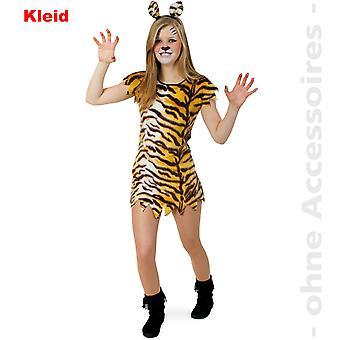 Tiger Mädchen Tigerkleid Wild CatRaubkatze Steinzeit Mädchen Teenager Kostüm